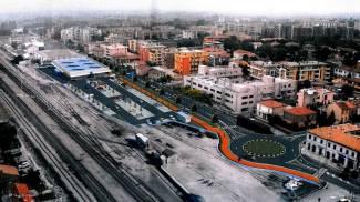RIQUALIFICAZIONE Dall'alto il progetto del nuovo Eurospin con parcheggi e rotatoria; l'architetto Remiglio Bursi e l'ex Molino Albani