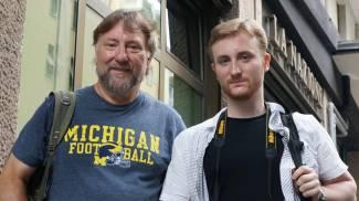 Will Morris col figlio Randall