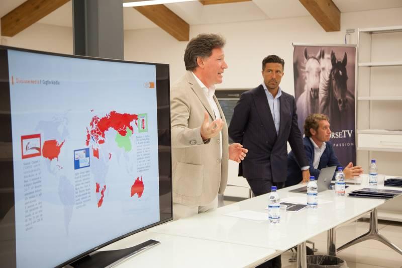 Alessandro Giglio e Luca Panerai annuciano la partnership ClassHorseTv Giglio Group ©CHT
