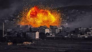Esplosioni a Kobane (AFP)