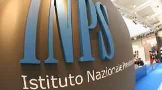 L'insegna Inps - Istituto nazionale previdenza sociale in una foto d'archivio. (ANSA)