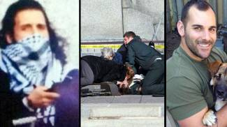 Ottawa, l'attentatore (Foto da Twitter) e il soldato-eroe ucciso