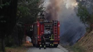 Incendio a Sant'Angelo in Vado (PU)