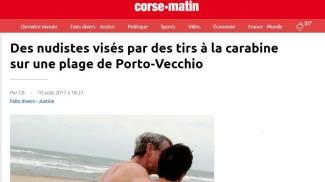 La notizia sul sito Corse-Matin
