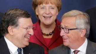 Angela Merkel, Jose Manuel Barroso e Jean-Claude Juncker (Reuters)