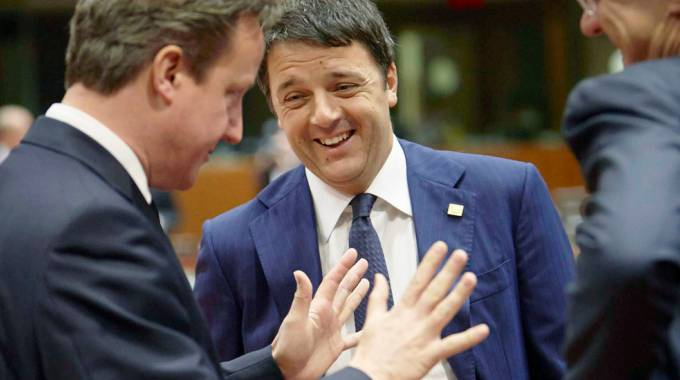 David Cameron e Matteo Renzi (ImagoE)