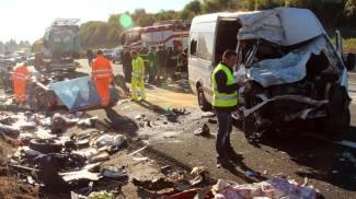 Incidente sull'autostrada A1 (Ansa)