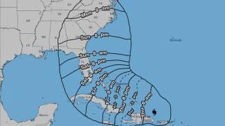 Irma, dove arriverà e quando (Stime NHC)