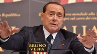 Silvio Berlusconi durante la presentazione del libro di Bruno Vespa (Ansa)