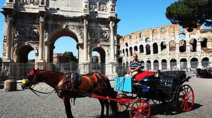 Una delle famose botticelle romane