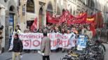 La protesta dei dipendenti della Provincia di Firenze (New Press Photo)