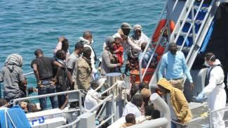 Nuova tragedia dell'immigrazione (foto d'archivio Olycom)