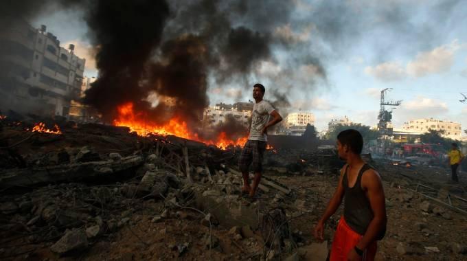 Strage in una scuola a Gaza (Reuters)
