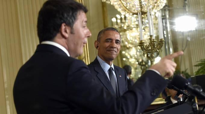 """Renzi alla Casa Bianca: """"Voi modello"""". Obama: """"L'Italia è sulla strada giusta"""""""