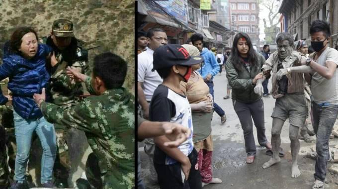 Nepal, terremoto 7.9: 1.500 morti. Crolla torre Unesco, 250 cadaveri. Valanghe sull'Everest: 18 vittime