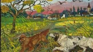 Antonio Ligabue: «Paesaggio con cani»